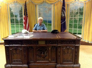 "In the ""Oval Office"" at the Kennedy Experience exhibit, San Diego County Fair"