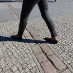 Crossing the Berlin Wall in 2015 - only pavers remain to remind us of its 28-year existence