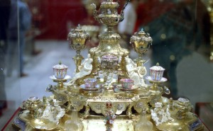 Golden Coffee Service - the pieces were made by court goldsmith Johann Melchior Dinglinger around 1700
