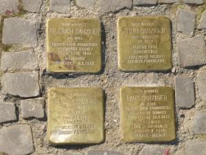 Stolpersteine for the Danziger Familie - Berlin Charlottenburg, Suarezstrasse and Kuno-Fischer-Strasse, photo J. Elke Ertle © 2014
