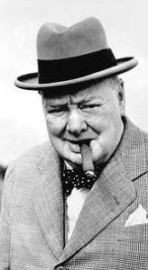Sir Winston Churchill (1874-1965). www.walled-in-berlin.com