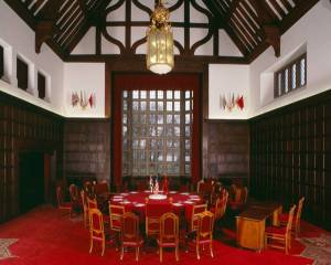 The Great Hall at Schloss Cecilienhof where the Potsdam Agreement was signed