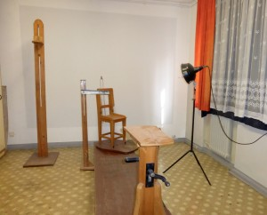 Typical Berlin-Hohenschoenhausen prison interrogation room, photo © J. Elke Ertle, 2015