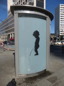 City Pissoir at Breitscheidplatz in Berlin, Germany Photo © J. Elke Ertle, 2015