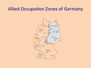 Allied Occupation Zones of Germany (British, French, American and Soviet) - 1945 to 1990