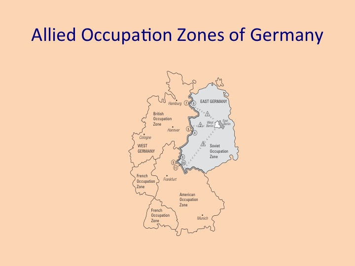 Allied Control Council Governs Germany Walled In Berlin - Germany occupation zones map