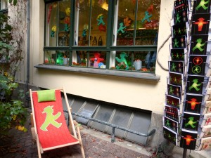 Ostalgie turned into cash - Ampelmann Shop in Berlin-Mitte with the beloved East German traffic light man as a theme. photo © J. Elke Ertle, 2015
