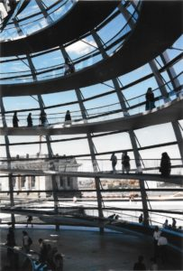 Inside the Reichstag cupola. Photo © J. Elke Ertle, 2000, walled-in-berlin.com