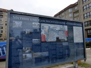 Information Board at the formerl Hitler Bunker site in 2014, photo © J. Elke Ertle, www.walled-in-berlin.com