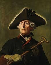 Frederick II, King of Prussia (known as Frederick the Great), 1712-1786. www.walled-in-berlin.com. Photo courtesy of en.wikipedia