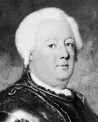 King Frederick William I (Friedrich Wilhelm I) of Prussia, photo courtesy of britannica.com from a portrait by Antoine Pesne. www.walled-in-berlin.com