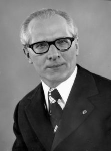 Erich Honecker, First Secretary of the Socialist Unity Party 1971-1989. Photo courtesy of Bundesarchiv.