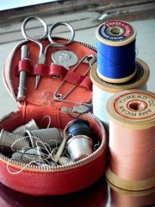 Time's sewing kit is rarely helpful. www.walled-in-berlin.com