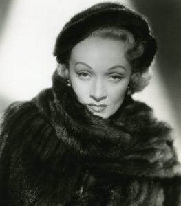 Marlene Dietrich in 1951 at age 50. www.walled-in-berlin.com