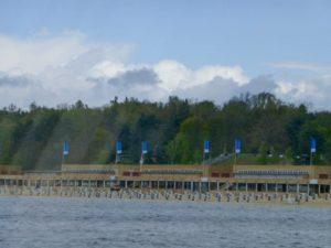 Strandbad Wannsee as seen from the River Havel. Photo © J. Elke Ertle, 2017, www.walled-in-berlin.com